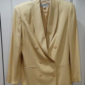 Valerie Stevens 100% Silk Skirt Suit, Size 8